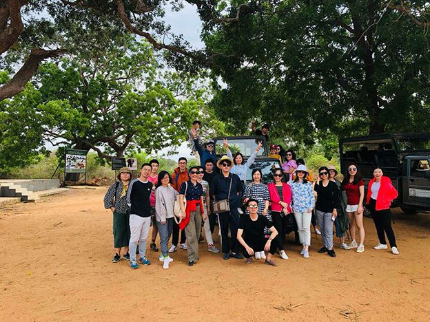 Chinese journalists on FAM tour