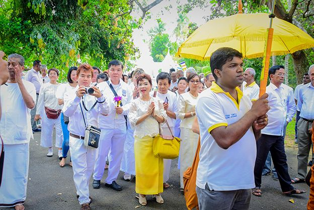 Thai Buddhist group, a beacon of blessings and hope