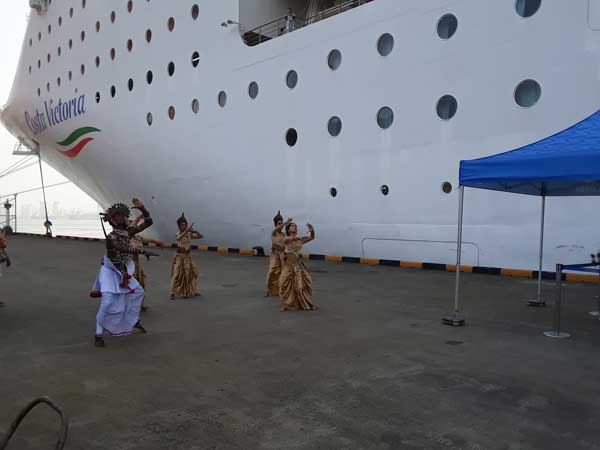 Costa Victoria makes her debut call at the port of Colombo
