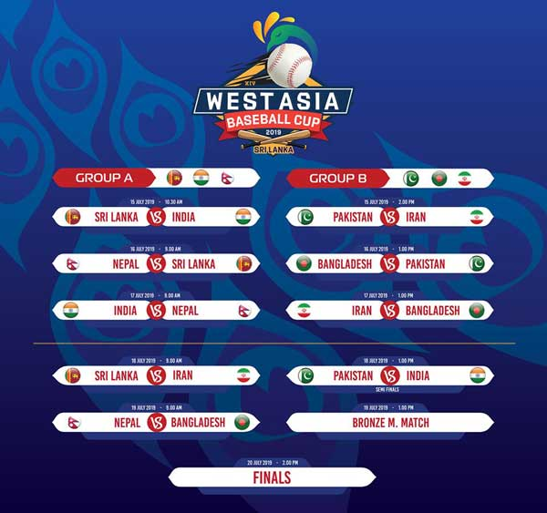 WEST ASIA BASEBALL 2019