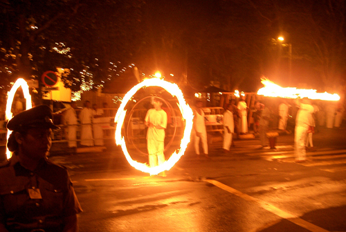 Fireball twirlers